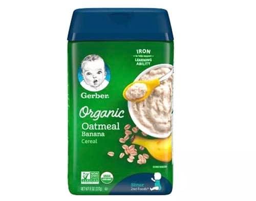 6-4-gerber-organic-cereal-oatmeal-banana