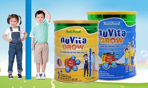 Sữa nuvita grow giúp bé tăng chiều cao vượt trội